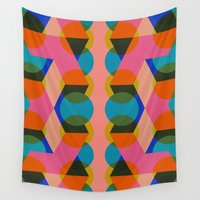 60s Wall Tapestries featuring Geometric 60s by Lilly Marfy