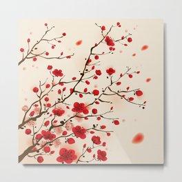 Oriental plum blossom in spring 006 Metal Print