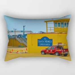 Santa Monica Lifeguards Rectangular Pillow