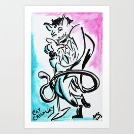 Cat Calloway Art Print