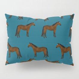 Bay Horse breed farm animal pet pattern horses Pillow Sham