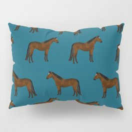 Bay Horse breed farm animal pet pattern horses Pillow Sham