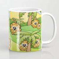 lions Mugs featuring Little Lions. by Digi Treats 2