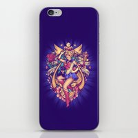 sailormoon iPhone & iPod Skins featuring In the Name of the Moon by Megan Lara