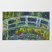 monet Area & Throw Rugs featuring Monet Interpretation by Britt Miller Art