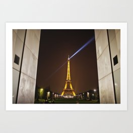 The Eiffel Tower doesn't need framing Art Print
