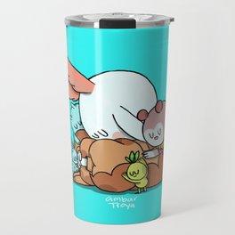 Bunnie Sad Travel Mug