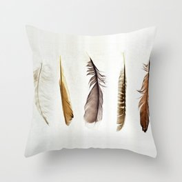 Five Feathers Throw Pillow
