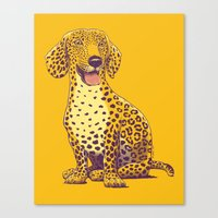 daschund Canvas Prints featuring Take a Woof on the Wild Side! by victor calahan