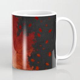 Maple Leaf Dispersion Effect Coffee Mug