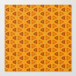 Yellow Autumn Leaves Close Up patterned Canvas Print