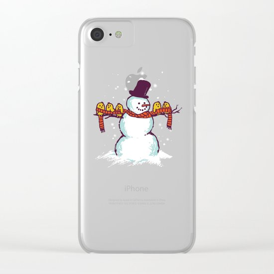 Sharing is caring (Winter edition) Clear iPhone Case