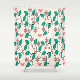 classic floral pattern Shower Curtain
