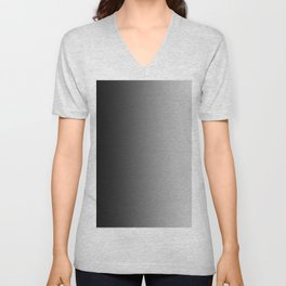 Black to Gray Vertical Linear Gradient Unisex V-Neck