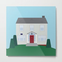 Daily Orange House Metal Print