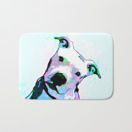 Pit bull - Puzzled - Pop Art Bath Mat