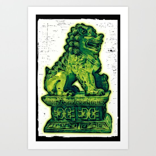 Jade Lion Art Print