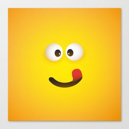 Smiling Emoji with Stuck Out Tongue Canvas Print