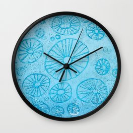 Blue Anemone 2 Wall Clock