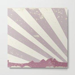 Town Silhouette Grunge Metal Print