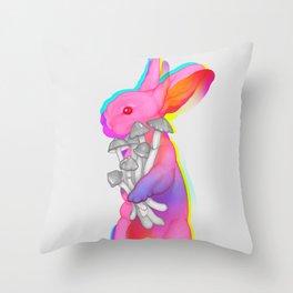 Psilocybin Rabbit Throw Pillow
