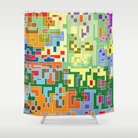 maps Shower Curtains featuring Maps by Tony Vazquez