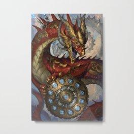 Zodiac Dragons Calendar Ophiuchus Metal Print