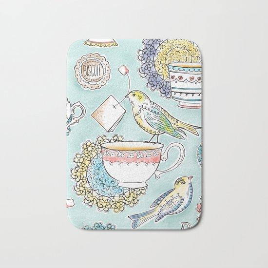 Tea Time Bath Mat