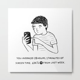 Screen Time Metal Print