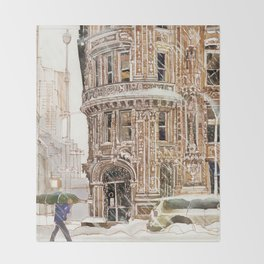 Winter in NYC Throw Blanket