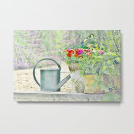Country Garden Metal Print