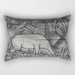 Animals conference in the tick forest Rectangular Pillow