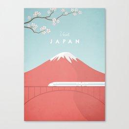 Vintage Japan Travel Poster Canvas Print