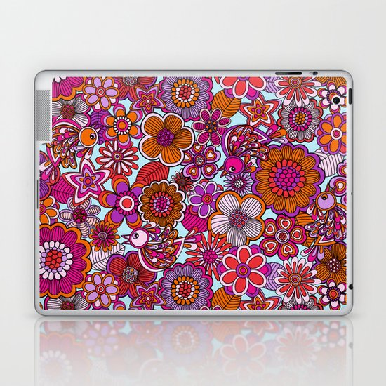 Welcome birds to my garden. Laptop & iPad Skin