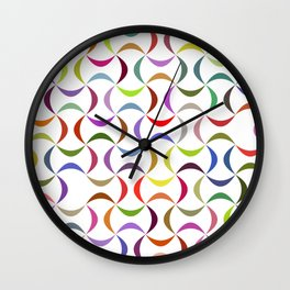 Abstract multicolor shapes pattern Wall Clock