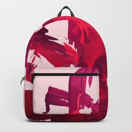 Embers: a vibrant abstract piece in pinks Backpack