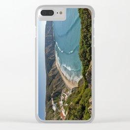 Arrifana surfing beach, Portugal Clear iPhone Case