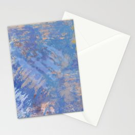 Blue Action Abstract Stationery Cards