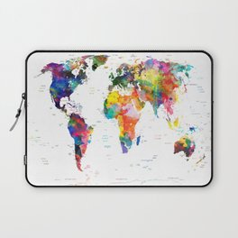 world map political watercolor 2 Laptop Sleeve