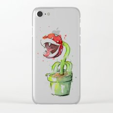 Piranha Plant Watercolor Clear iPhone Case