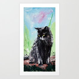 My little cat - kitty - animal - by LiliFlore Art Print