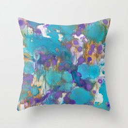 Blue Blossom Throw Pillow