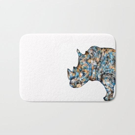 Rhino-no text Bath Mat