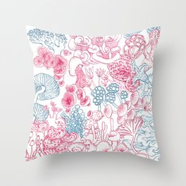 Mycology 1 Throw Pillow