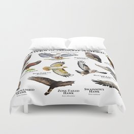 Hawks of North America Duvet Cover