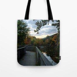 Madam Brett Park in Autumn - Beacon NY Tote Bag