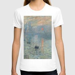 Claude Monet – Impression soleil levant – impression sunrise T-shirt