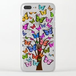 Butterfly tree Clear iPhone Case