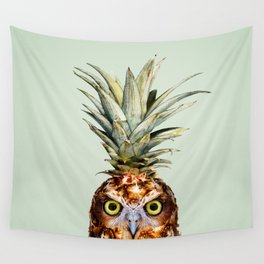 PINEAPPLE OWL Wall Tapestry