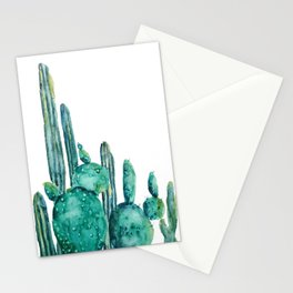 cactus jungle watercolor painting Stationery Cards